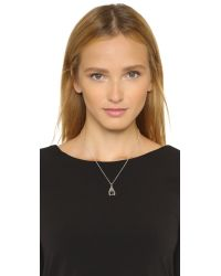 Pamela Love - Black Reina Pendant Necklace - Silver/onyx - Lyst