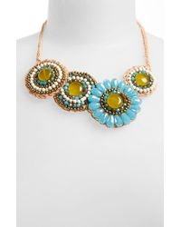 Panacea | Blue Flower Medallion Necklace | Lyst