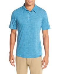 Patagonia | Blue Daily Merino Wool Blend Performance Polo for Men | Lyst