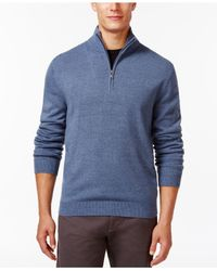 Weatherproof | Blue Soft Half-zip Sweater for Men | Lyst