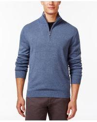 Weatherproof | Blue Soft Half-zip Sweater for Men | Lyst