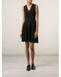 Yigal Azrouël - Black Pleated Knit Dress - Lyst