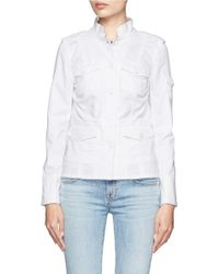 Tory Burch - White Sgt. Pepper Cotton-blend Twill Jacket - Lyst