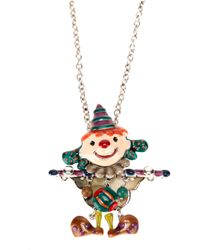 !item | Multicolor Clown Pendant Necklace | Lyst