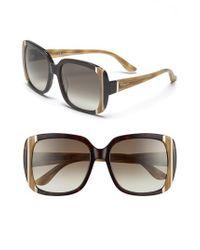 Ferragamo | Natural 56mm Sunglasses | Lyst
