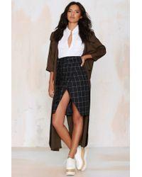 Nasty Gal - Black Office Ace Plaid Skirt - Lyst