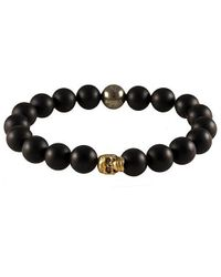 Electric Picks - Black Punk Men's Skull Bracelet for Men - Lyst