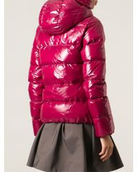 Duvetica - Red Hooded Padded Jacket - Lyst
