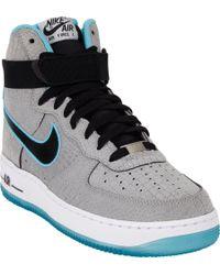 outlet store d7c97 5caa4 Mens Blue Air Force 1 Hi Premium Comfort Sneakers