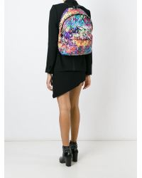 Moschino | Multicolor Graffiti Quilted Backpack | Lyst