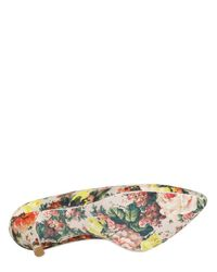 MSGM - Multicolor 80mm Floral Canvas Pumps - Lyst