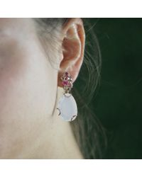 Federica Rettore - Metallic Boccilo Milky Quartz Earrings - Lyst