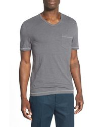 Original Penguin | Gray 'bing' Pocket V-neck T-shirt for Men | Lyst