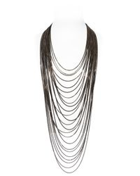 Rosantica | Black Mille Fili Multi Strand Necklace | Lyst