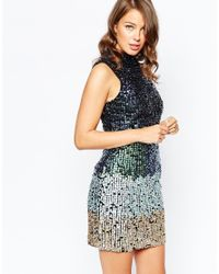 French Connection | Metallic Cosmic Beam Dress | Lyst