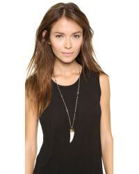 Vanessa Mooney - Metallic The Khumbu Tooth Necklace - White Multi - Lyst