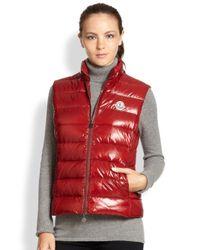 20a4f46d6 Lyst - Moncler Ghany Vest in Red for Men