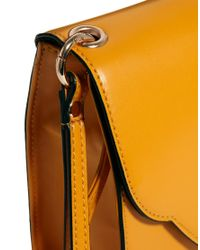 ASOS | Yellow Clutch Bag with Rounded Flap | Lyst