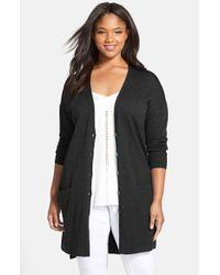Sejour | Black 'core' Wool Blend V-neck Cardigan | Lyst