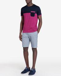 Ted Baker   Pink Colour Block T-Shirt for Men   Lyst