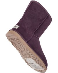 UGG - Purple Classic Short Suede Boots - Lyst