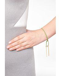 Carolina Bucci | Metallic 18k Gold/silk Woven Tassel Bracelet In Green | Lyst