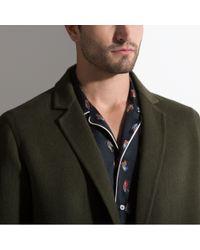 Bally - Green Longline Coat for Men - Lyst
