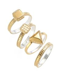 Anna Beck | Metallic Stackable Rings | Lyst