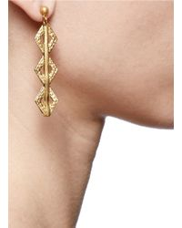 Ela Stone - Metallic Paloma Geometric Drop Earrings - Lyst