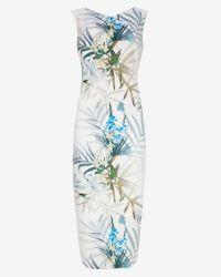 Ted Baker - Blue Loua Twilight Floral Midi Dress - Lyst
