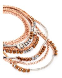 Assad Mounser | Metallic 'eno' Multi Tier Collar Necklace | Lyst