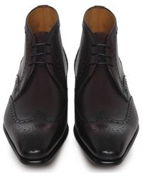 Saks Fifth Avenue | Red Brogue Leather Boots for Men | Lyst