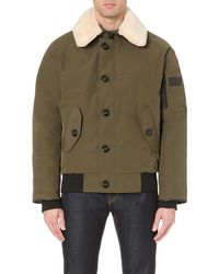 Canada Goose - Green Foxe Shearling-collar Bomber Jacket for Men - Lyst