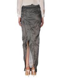 DRKSHDW by Rick Owens - Gray Long Skirt - Lyst