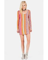 Volcom - Multicolor 'Locked Out' Stripe Body-Con Dress - Lyst