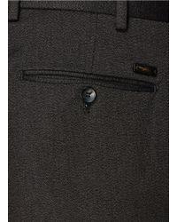 Armani - Gray Cotton Blend Pants for Men - Lyst