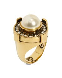 Alexander McQueen - Yellow Military Ring - Lyst