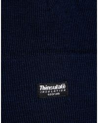 ASOS - Blue Thinsulate Beanie In Navy for Men - Lyst