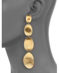 Marco Bicego | Metallic Lunaria 18k Yellow Gold Long Drop Earrings | Lyst