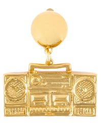Moschino | Metallic Boombox Clip-on Earrings | Lyst