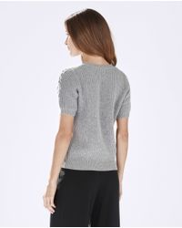 Parker - Gray Tandy Knit Top - Lyst