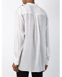 Isabel Marant - Black Pleated Yoke Shirt - Lyst