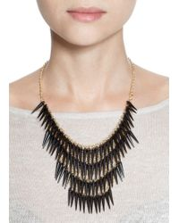 Mango | Black Fang Waterfall Necklace | Lyst