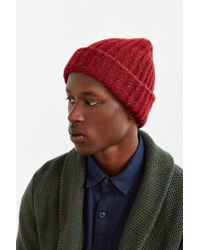 Urban Outfitters | Red Uo Flex Knit Beanie for Men | Lyst