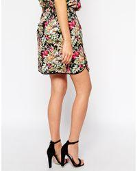 Oasis - Multicolor Hawaiian Tropical Print Skirt - Lyst