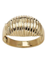 Lord & Taylor - Metallic 14kt. Yellow Gold Ribbed Dome Ring - Lyst
