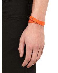Valextra | Orange Leather Wrap Bracelet for Men | Lyst