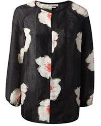 Étoile Isabel Marant - Black Floral Print Blouse - Lyst