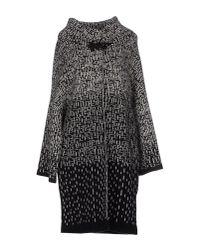 Emporio Armani - Black Coat - Lyst