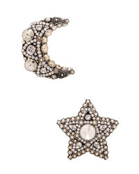 Lanvin | Metallic Star & Moon Earrings | Lyst